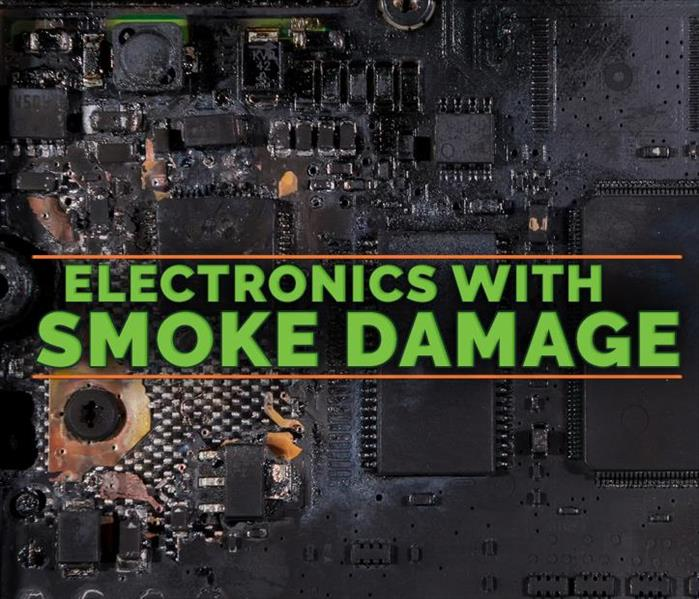 Electronic damaged with smoke, on the middle of the picture it says ELECTRONIC WITH SMOKE DAMAGE