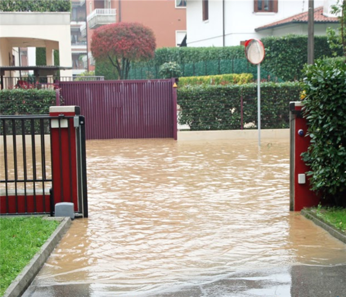 entry of a House during a flood and completely flooded road